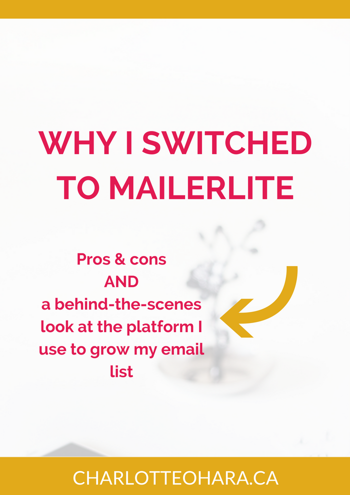 Why I made the switch to Mailerlite