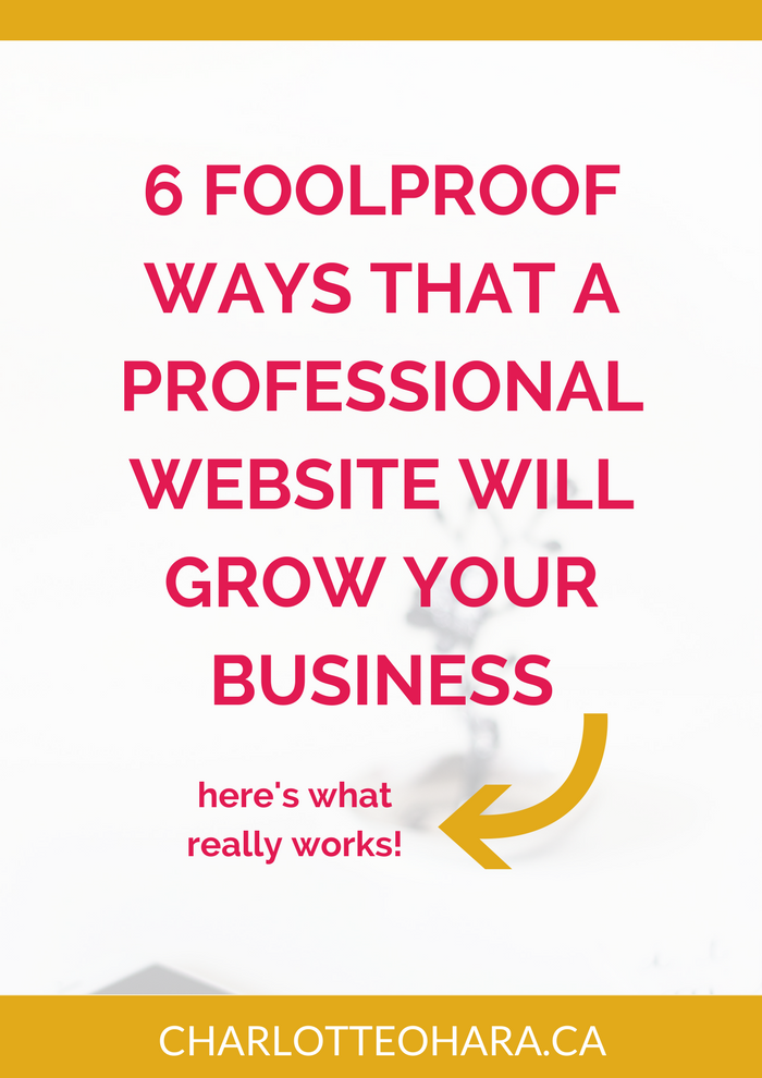 6 Foolproof ways that a professional website will grow your business
