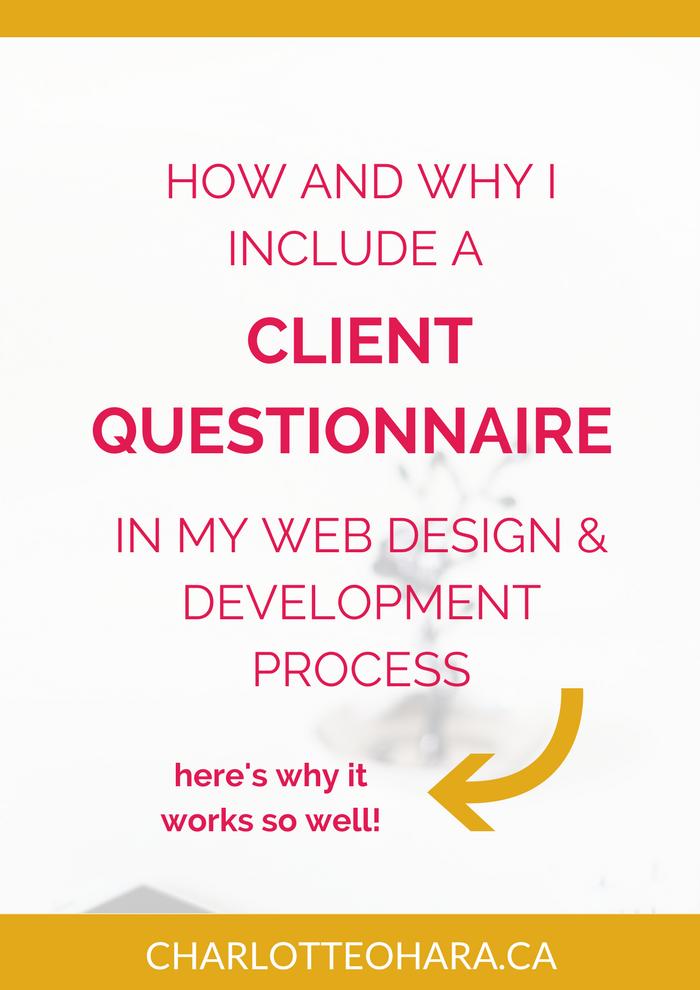 Client Questionnaire for web design development project
