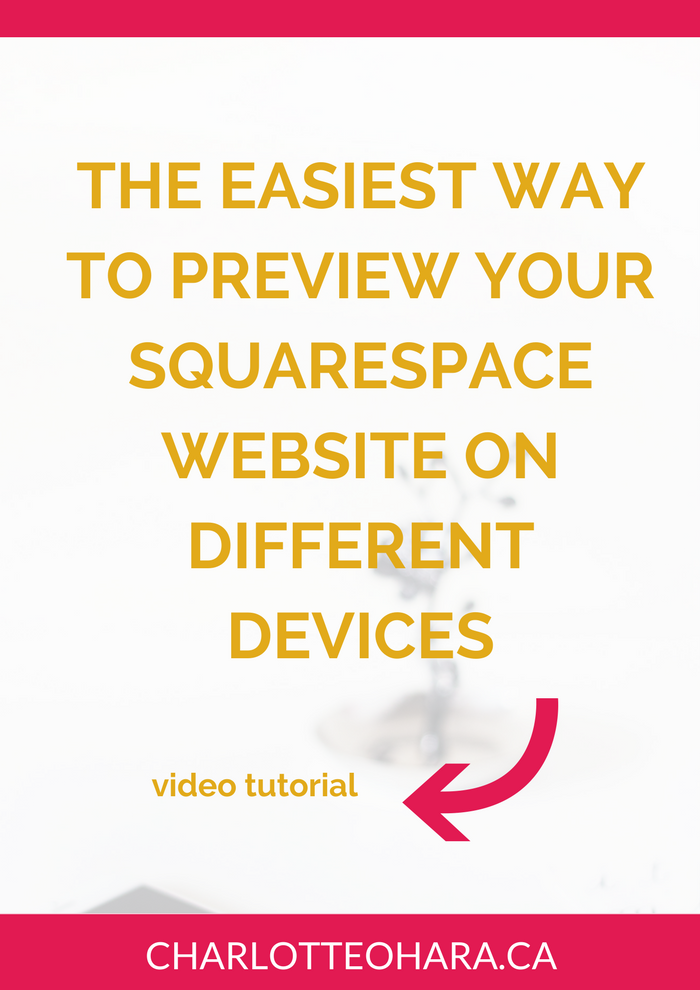 Preview Squarespace website on different devices   Device View video tutorial