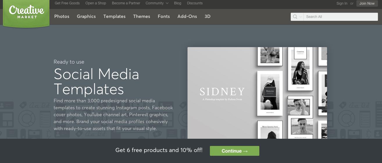 Creative Market Social media graphic templates