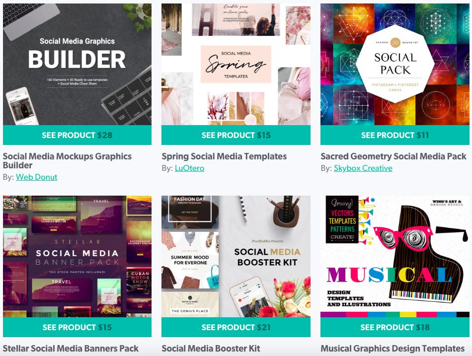 Design Cuts Social Media Graphic templates