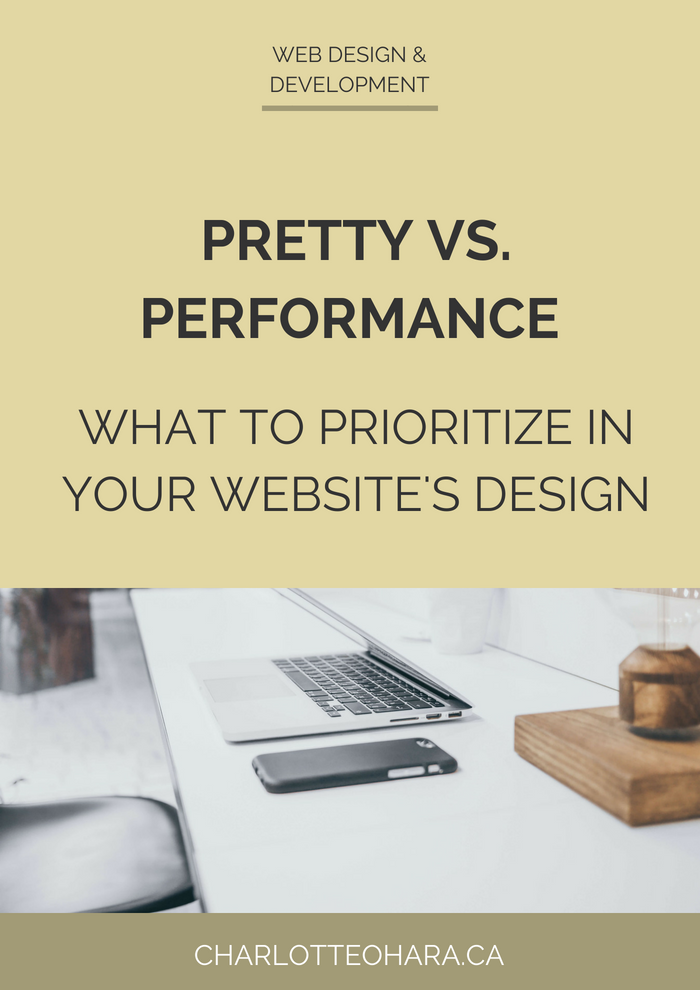 Pretty vs performance in website design  | what to prioritize