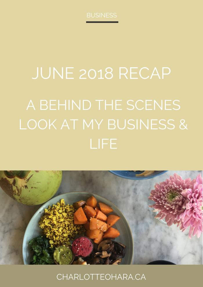 Charlotte O'Hara June 2018 recap