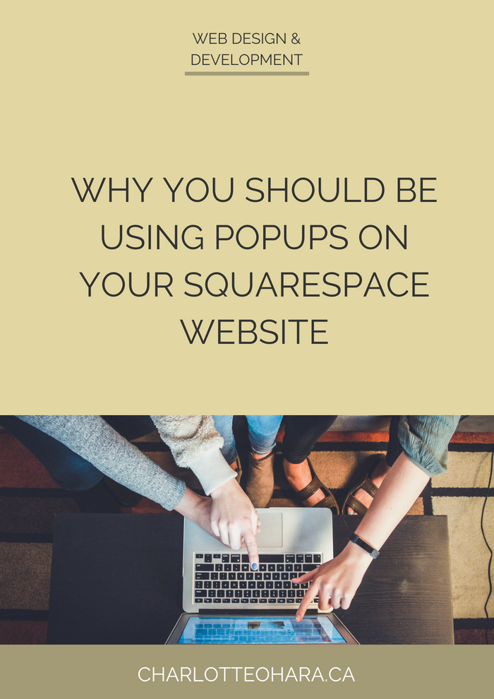 Why you should be using popups on your squarespace website