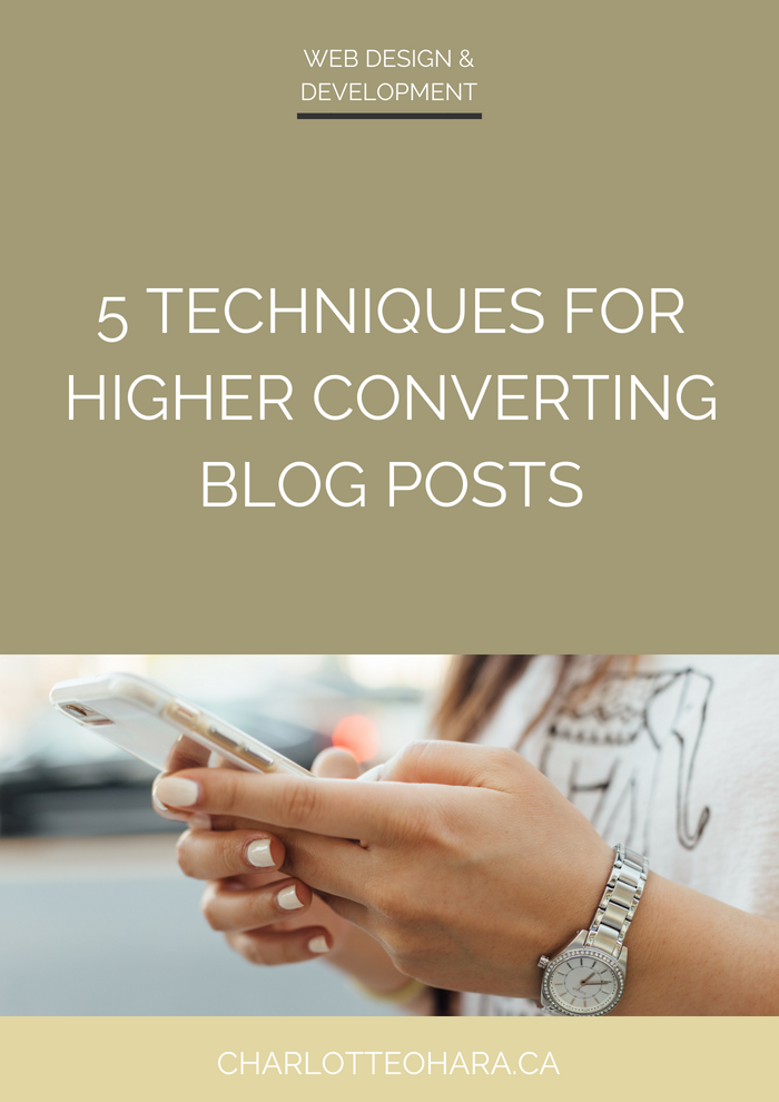 5 techniques for higher converting blog posts