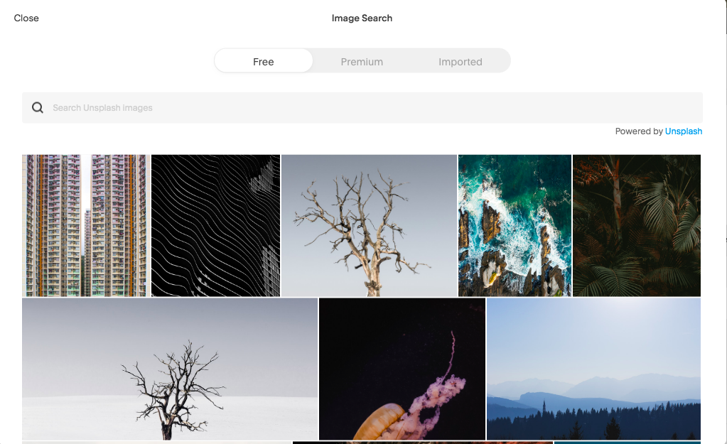 Squarespace integration with Unsplash for high resolution stock photography