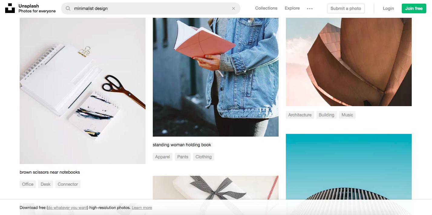 Unsplash free images and stock photography | minimalist design