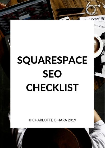 Squarespace SEO Checklist — Charlotte O'Hara