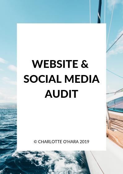 Website and social media audit  | Charlotte O'Hara freebie