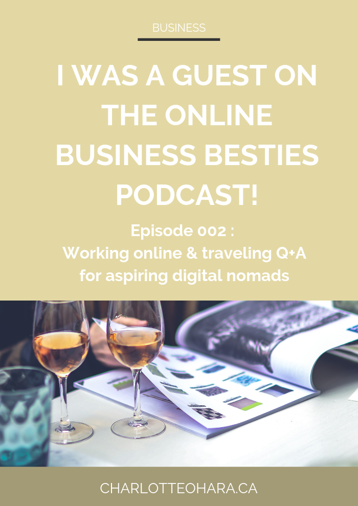 Charlotte O'Hara guest episode of the online business besties podcast