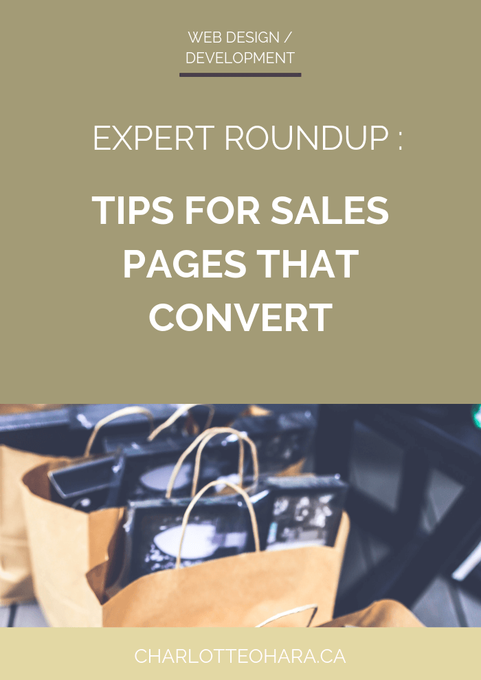 Expert Roundup tips for sales pages that convert