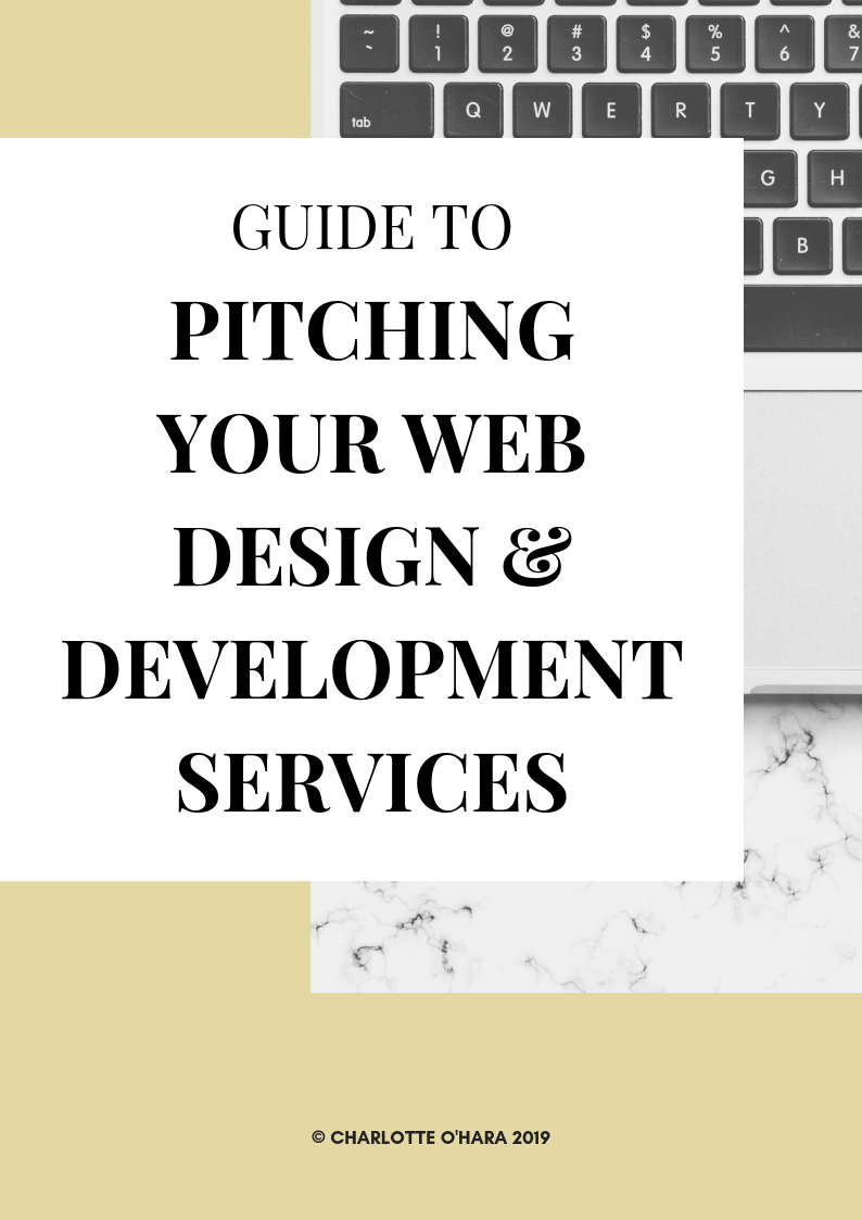 Guide to PITCHING YOUR WEB DESIGN & DEVELOPMENT SERVICES - guide cover image