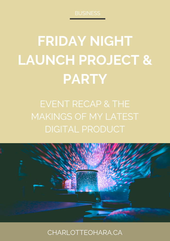 Friday Night Launch Project Party Recap
