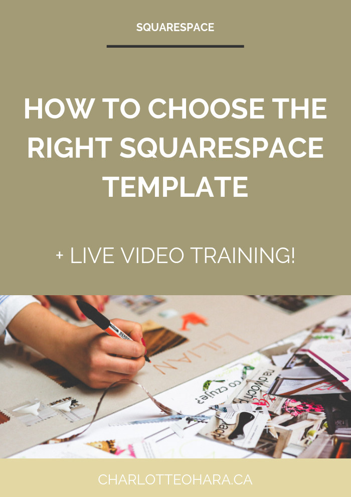 how to choose the right squarespace template | daily live video training extravaganza