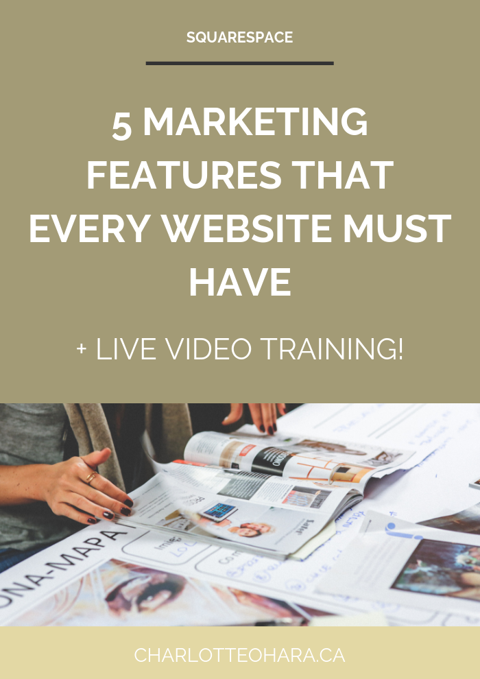 5 marketing features that every website must have | live video training extravaganza