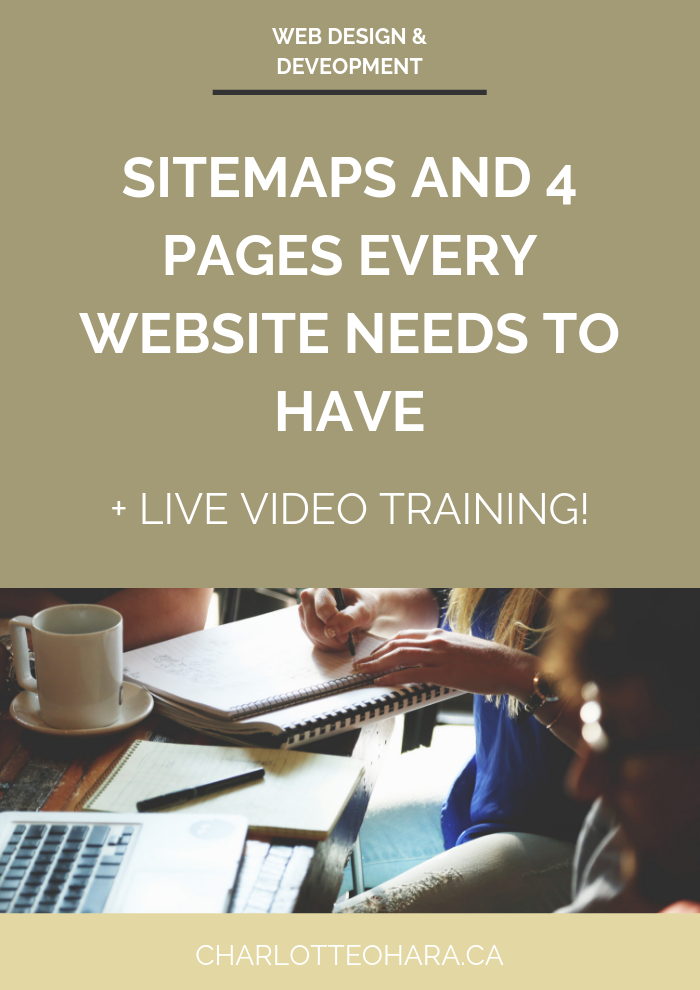 sitemaps and 4 pages every website needs to have | live video training extravaganza