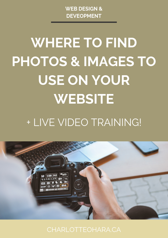 where to find photos and images to use on your website | live video training extravaganza