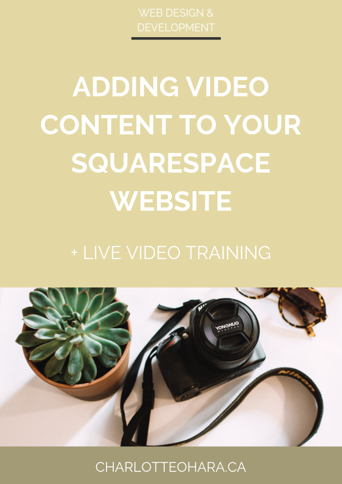 adding video content to your squarespace website | live video training extravaganza