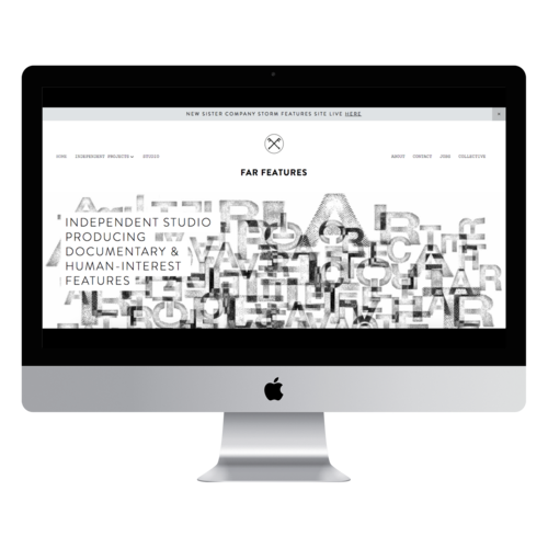 Far Features Website Mockup