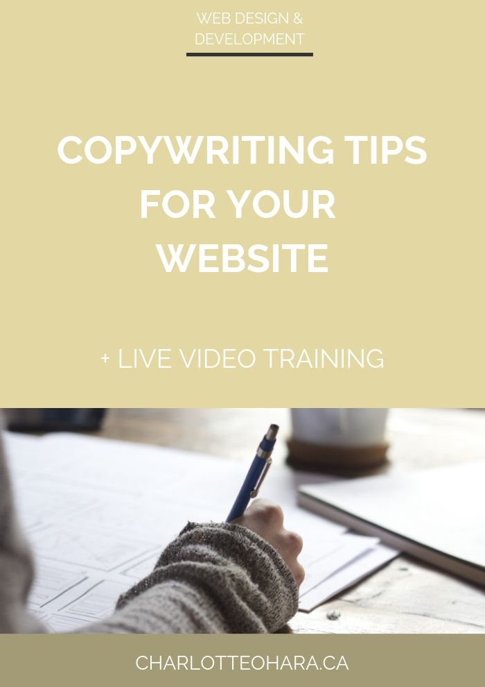 copywriting tips for your website | live video training extravaganza