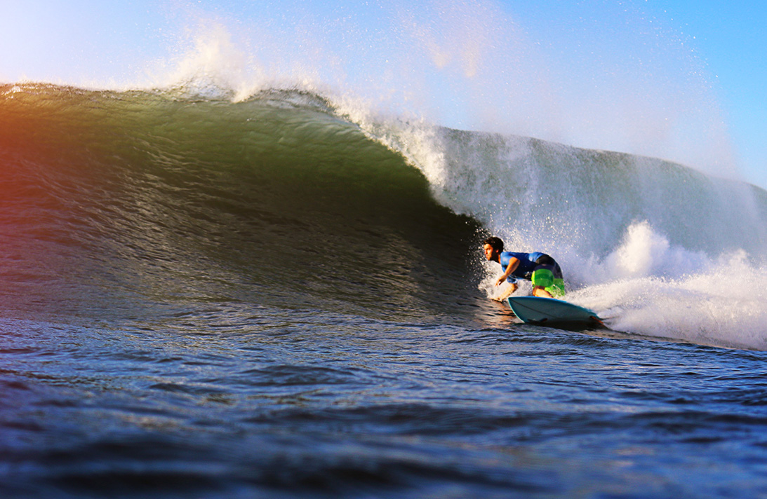 They say you judge a surfer by their bottom turn. Eric's submission.