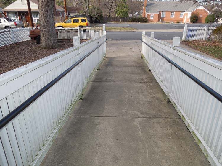 Handicapped ramp to street.