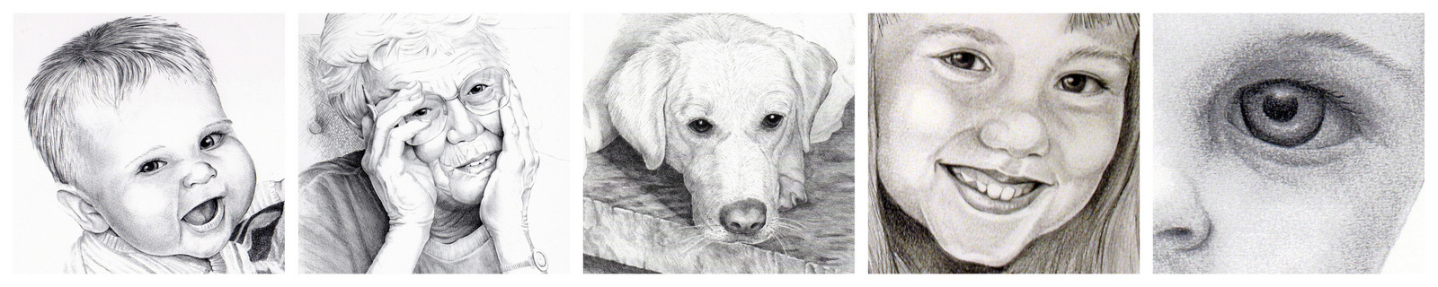 Portraits, Graphite Drawings, Karen Beckwith, Artist