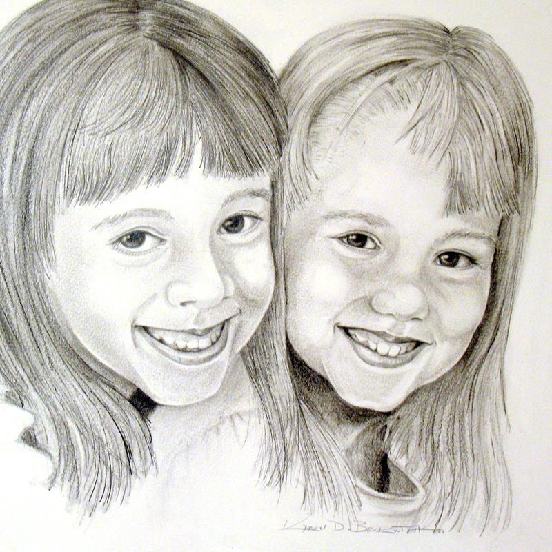 Portrait, Children, Art