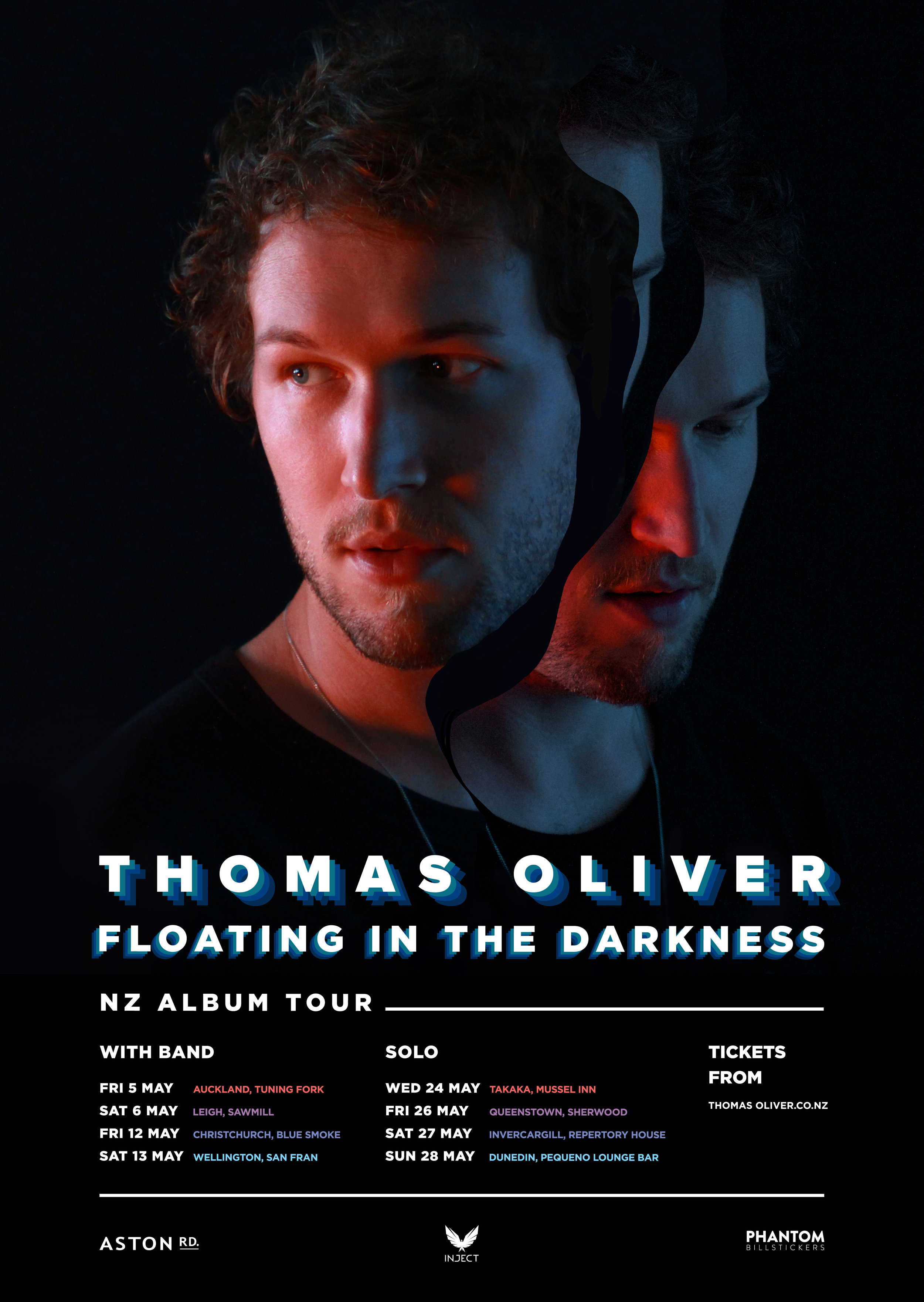 Thomas Oliver - Floating In The Darkness NZ Tour Poster.jpg