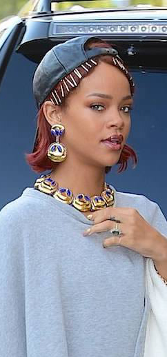 Rihanna wearing William DeLillo Jewelry