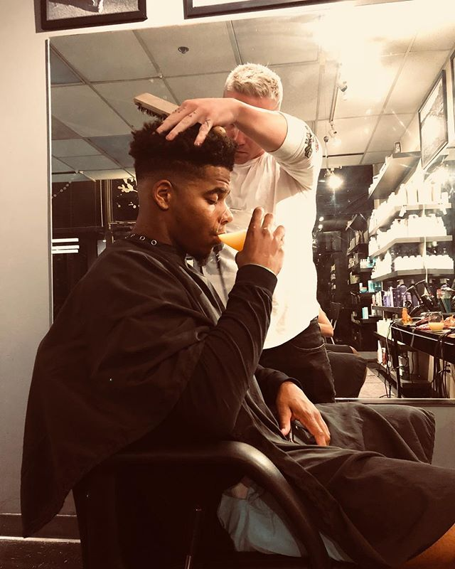 G rockin that fade #babyliss #babylisspro #barber #stylist #fade #king #dmv #style