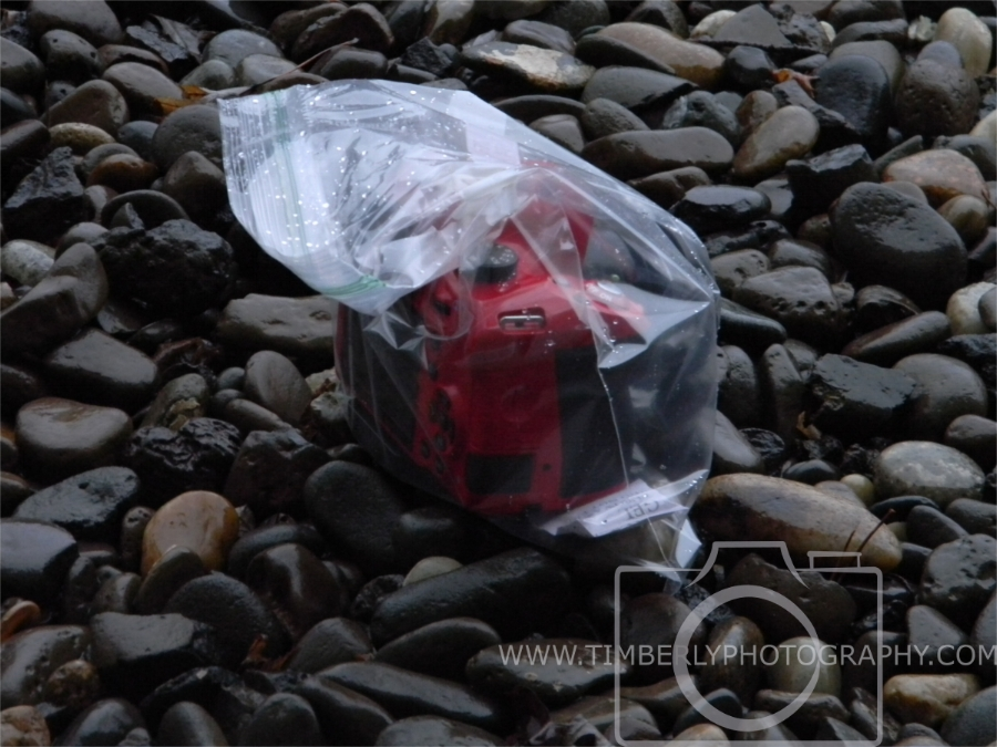 Camera in Plastic Bag