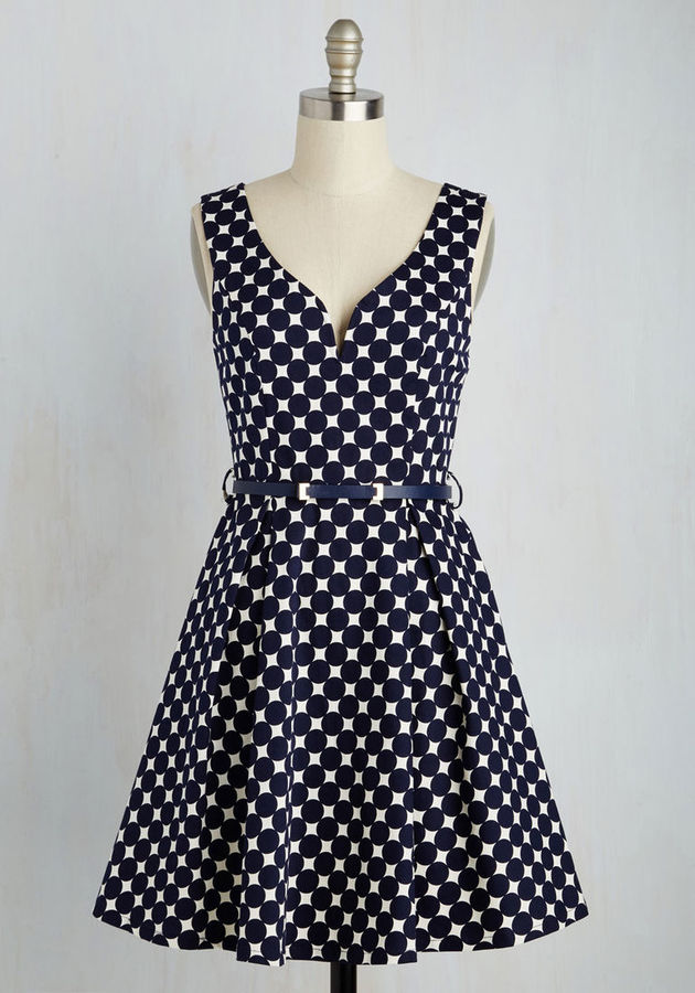 $35  ModCloth You've Dot To Be Sure Dress