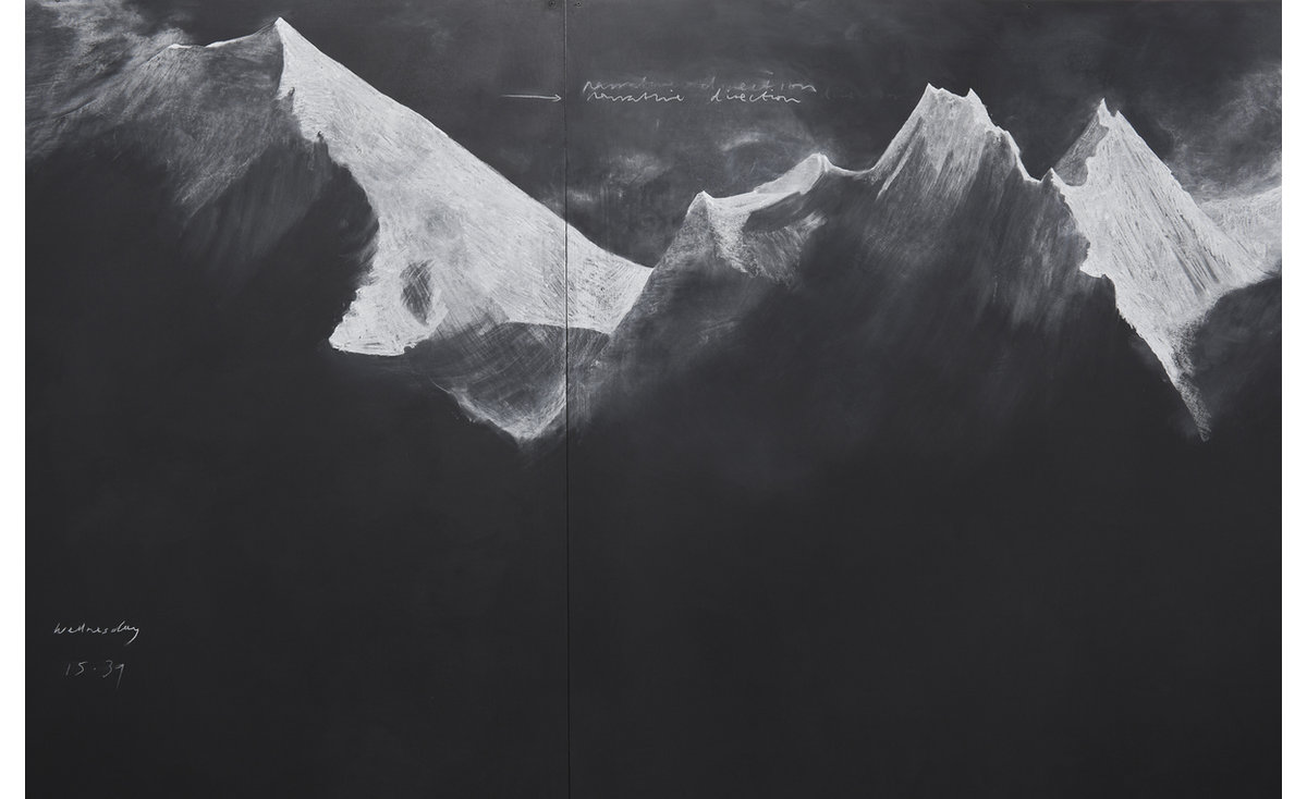 Tacita Dean,  Fatigues   (E), 2012,  Chalk on board