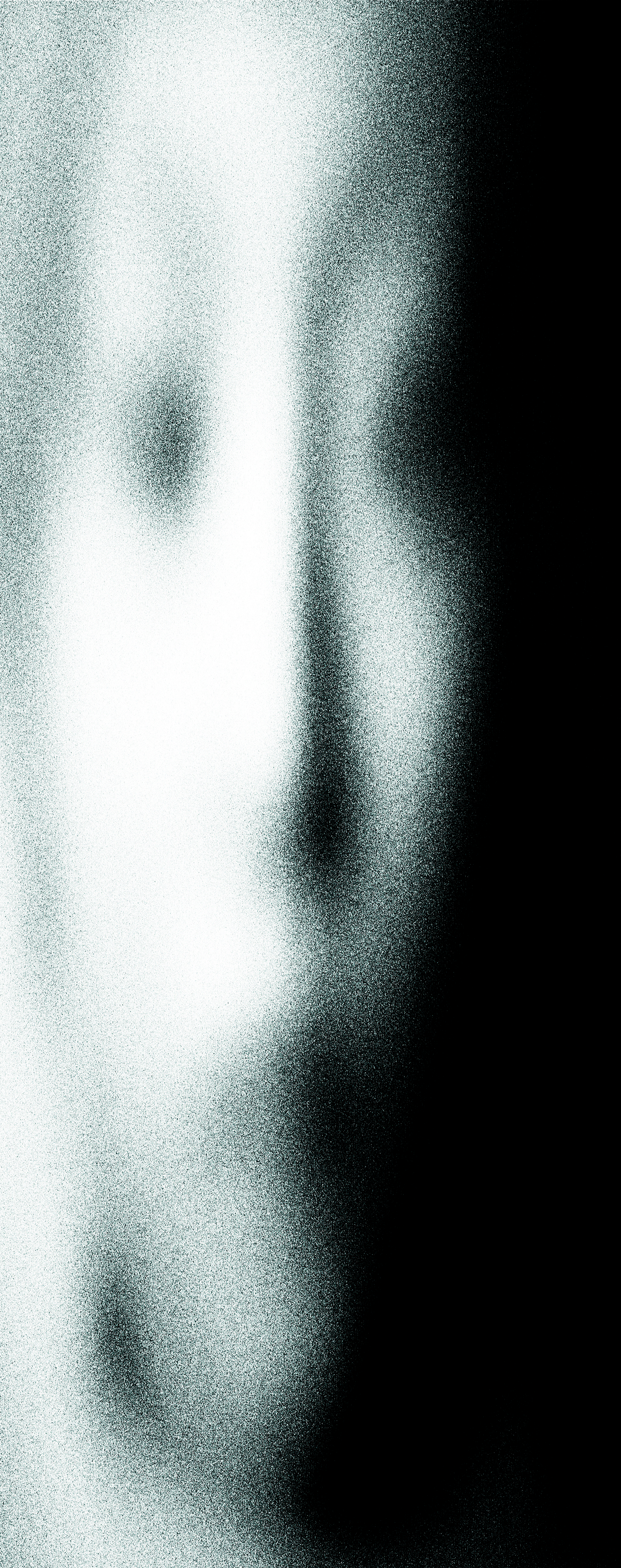 Charcoal drawing digitally stretched, intentionally distorted and printed onto paper in preparation for a new light drawing