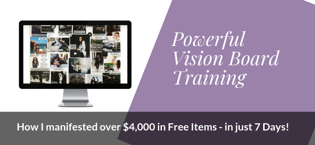 Learn how to manifest in this free vision board workshop! Plus see a real life vision board example.