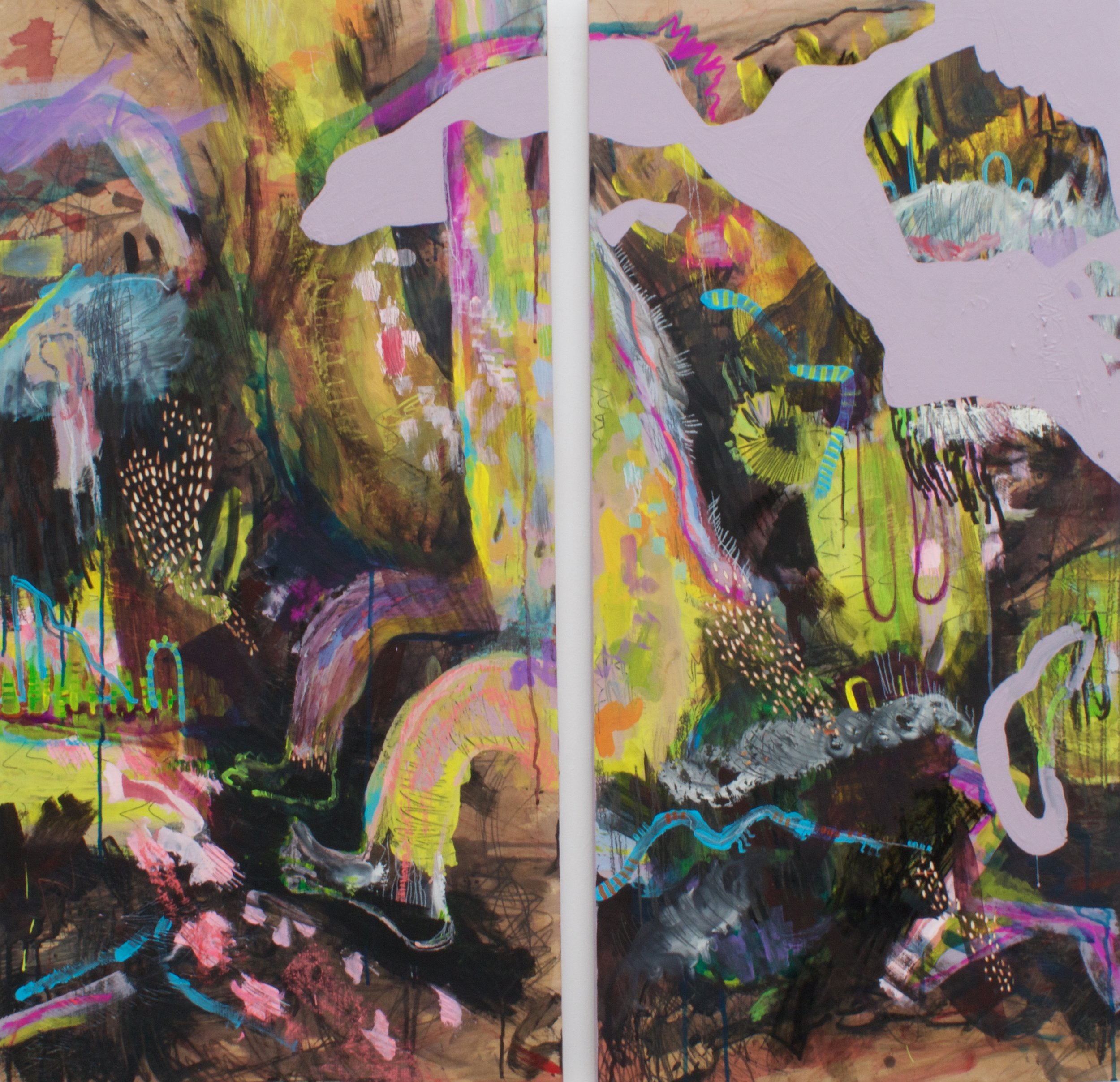 Untitled (Creature) Diptych
