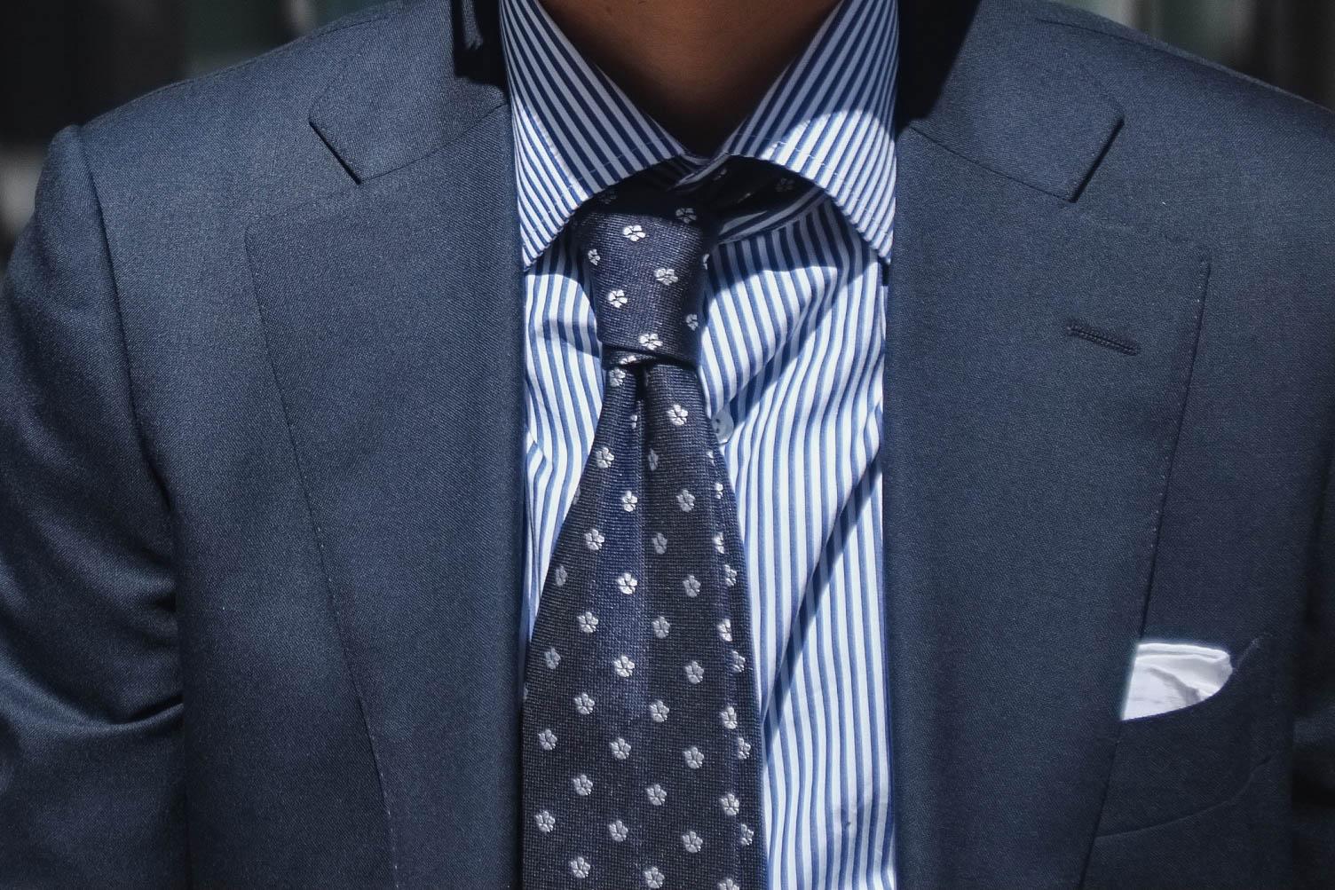 Glasses -   JINS   Suit - SuitSupply   Shirt - Proper Cloth   Tie - Vanda Fine Clothing   Pocket Square - Drake's of London   Belt and Shoes - Carmina Shoe Maker   Briefcase - Filson