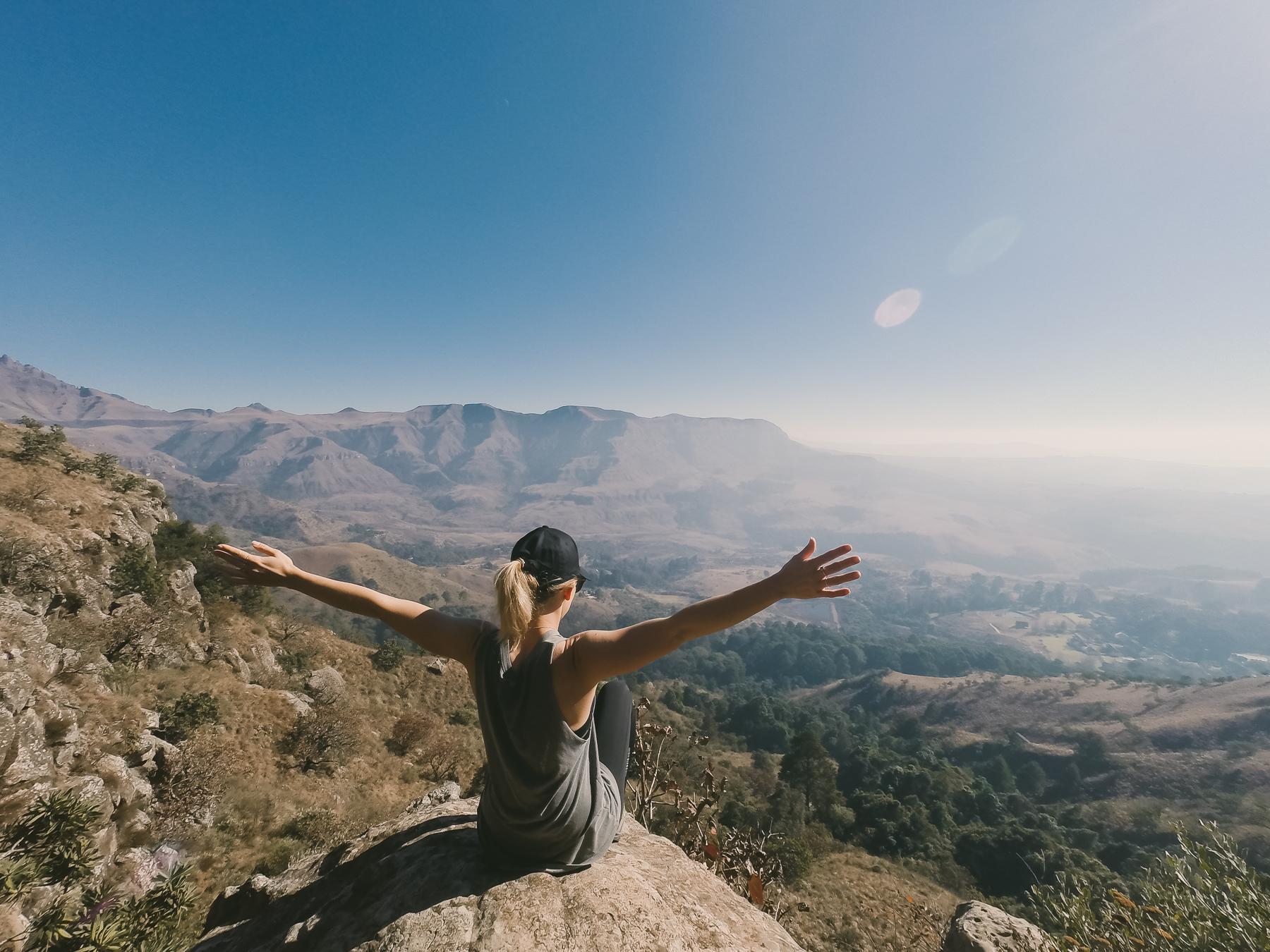 Me a top a ridge near Champagne Castle Mountain, Drakensburg.