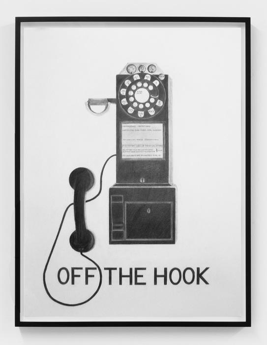 Vern Blosum,Off The Hook, 2015, Graphite on paper