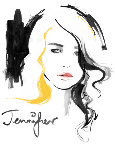 Portrait of Actress Jennifer Lawrence
