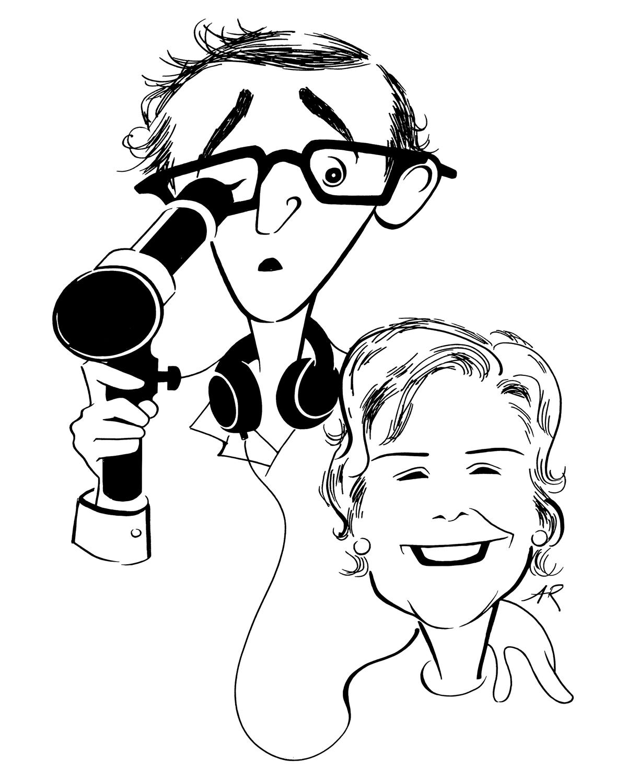 Woody Allen and Juliet Taylor