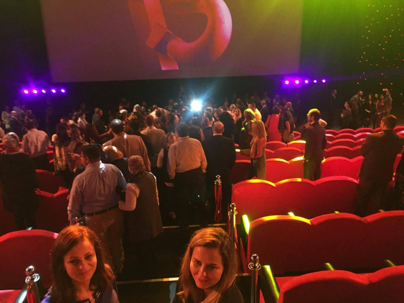 جانب من الحضور بعدعرض الفيلم بدقائٍق