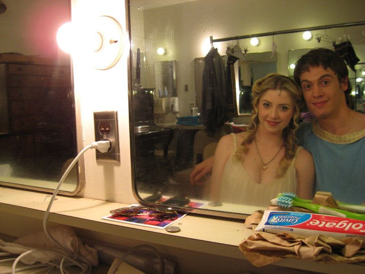 """Annie Abrams and Erich Bergen  - """"A Funny Thing Happened on the Way to the Forum"""""""