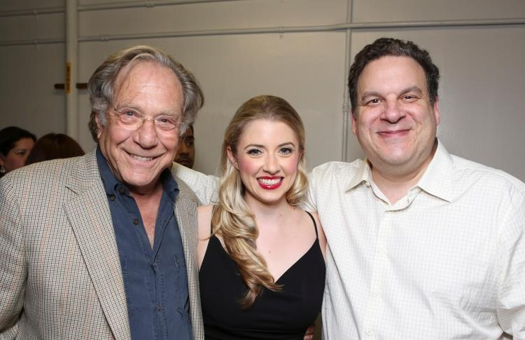 """Annie with George Segal and Jeff Garlin at the opening of """"The Sunshine Boys"""""""