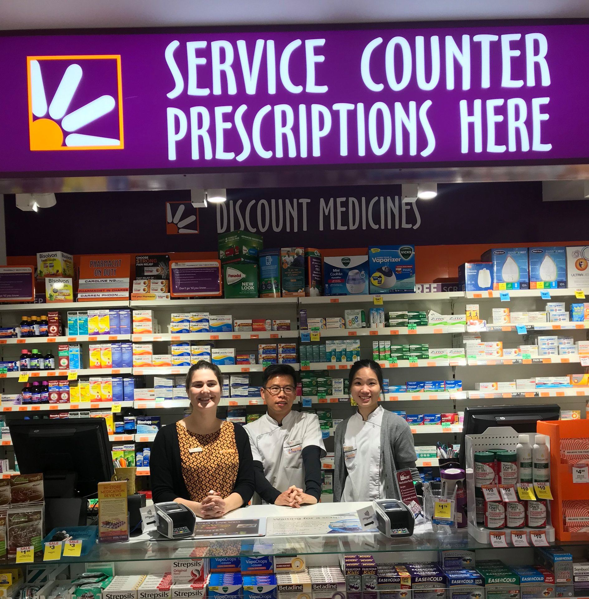 The Friendly Team From Discount Drug Stores -