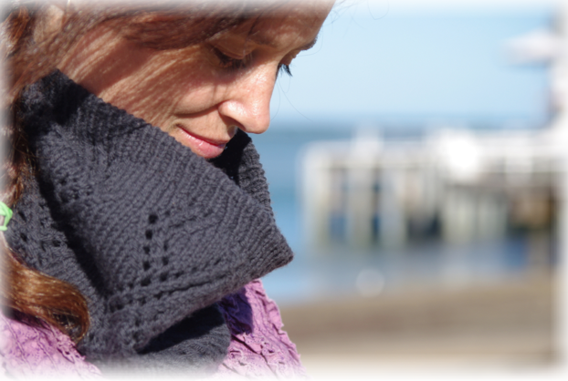 Georgie Hallam's new Uwland cowl (three different lengths) also designed for WGW