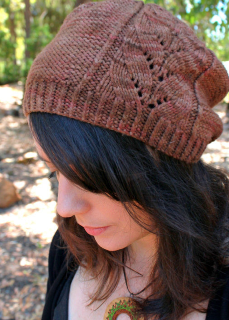 Restless Knitter's new pattern Reversus (a tricky inside out lace stitch) designed with WGW