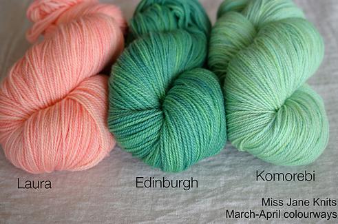 MIss Jane's Knits new colour range